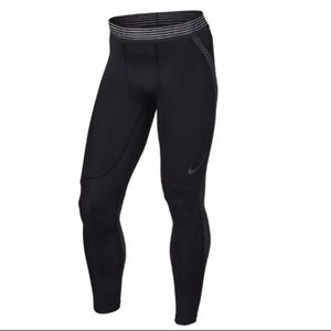Nike Pro Hypercool Tight Leggings Black Orange Men